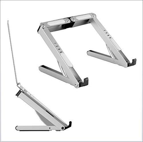 CICIN Tragbarer zusammenklappbarer Laptop-Ständer, Aluminium-Laptop-Ständer mit einstellbarem Winkel Ergonomischer Laptop-Ständer zur Kühlung und Belüftung Leichtgewicht -