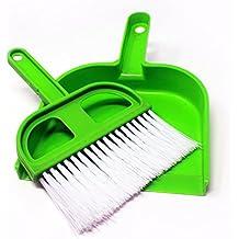 Fusine Click To Open Multipurpose Plastic Mini Dustpan Cleaning Set (13x12 cm, Green)