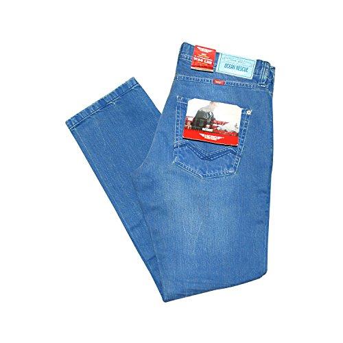 Hero Detroit Straight Tapered Jeans Hose Indigo Aqua Dyed Denim - 7125 Indigo Aqua Dyed Denim - 7191