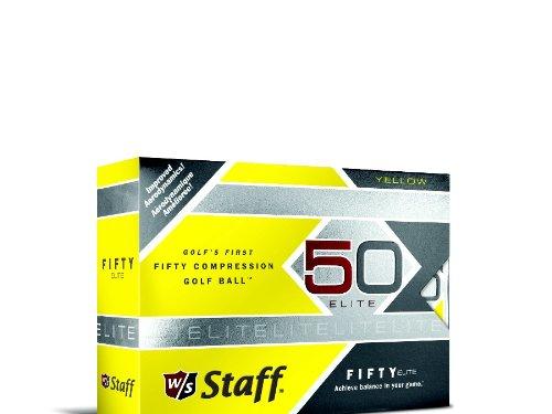 Wilson Staff Fifty Elite Balles de golf, Lot de 12, Homme, jaune, grand