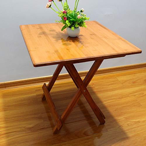 HBJP Hölzerner Snack-Tisch - einfacher Schreibtisch für Schüler, Zwei Größen verfügbar - bequemer Tisch im Freien - Zwei höhenverstellbar Klapptisch (Zwei Schüler Schreibtisch)