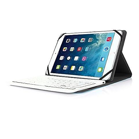Asus Tablette Windows 8 - Clavier Bluetooth AZERTY français, CoastaCloud Étui Housse