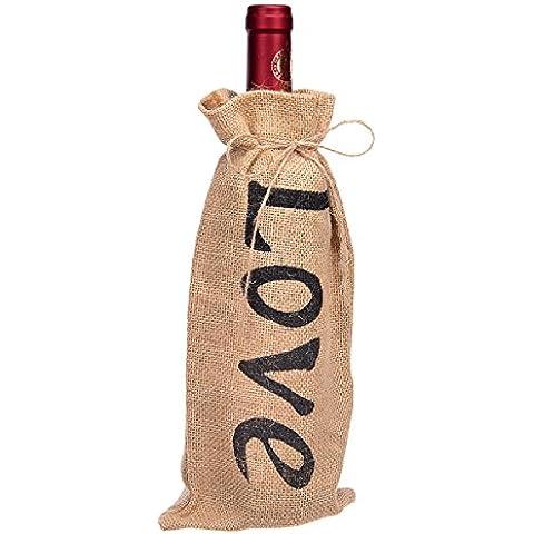 Remedios arpillera yute bolsas de regalo de botella de vino para bodas fiestas fiesta conjunto de 48pcs