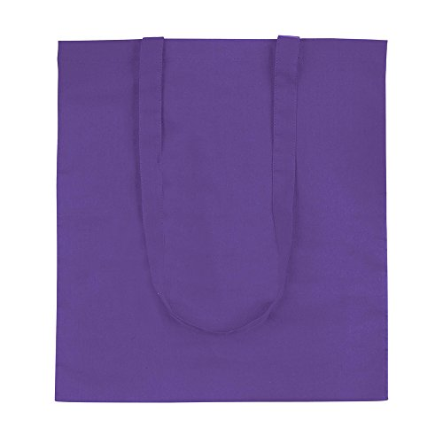 eBuyGB 100 % 4oz Baumwolle Shopping Shopper Umhängetasche (lila) Lila