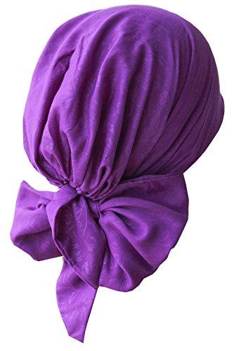Deresina Headwear Deresina Pre-tie Ultraweiches Kopftuch Aus Baumwolle für Chemotherapie (120 Purple)