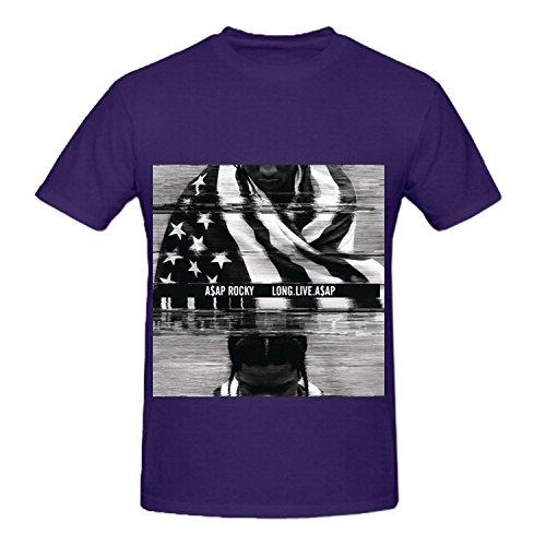 A$ap Rocky Long.live.a$ap Soundtrack Men Crew Neck Music T Shirts XXXX-L