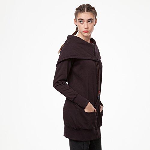 THOKKTHOKK TT1013 Yuki Zipjacket Java Woman aus 100% Biobaumwolle hergestellt // GOTS & Fairtrade Zertifiziert, Größe:L/XL - 6
