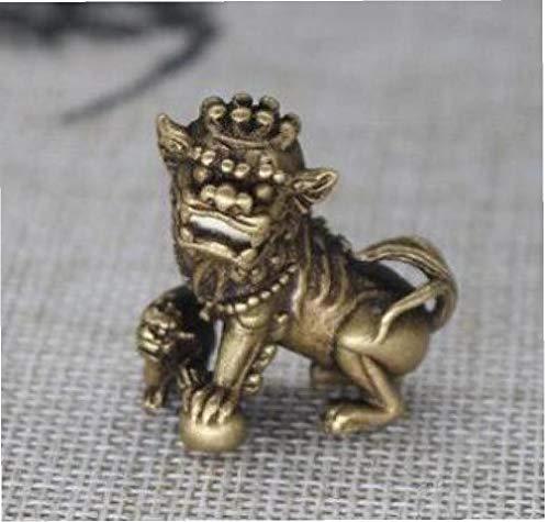 China Puro Bronce Perro Foo Bestia Aniaml león Bola