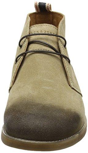 Jack & Jones Jjalpha Waxed Suede Chukka Boot Sand, Bottes Classiques homme Marron - Marron (Sable)