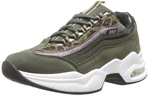 XTI Damen 49272 Sneakers, Grün Kaki, 41 EU