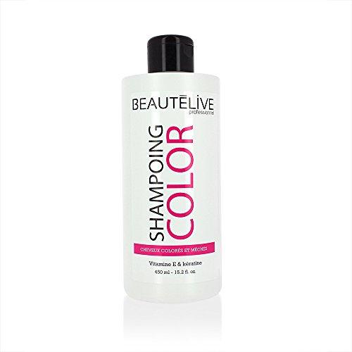 Beautélive Color - Shampoing prolongateur de couleur 450ml, Shampoing cheveux colorés