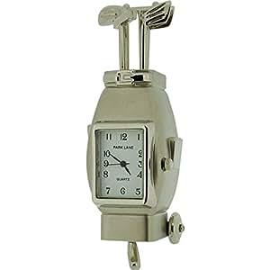Park Lane Adorable Mini Golf Bag Collectors Novelty Clock PLCLK139