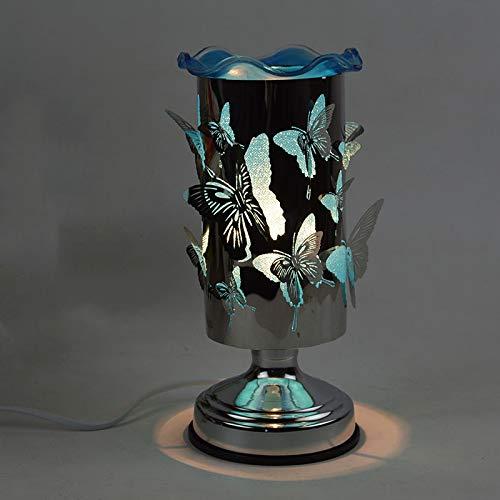 Fabrik direkt Schmetterling Duftlampe Plug-in Schlafzimmer Nachttischlampe kreatives Geschenk Dimmen ätherisches Öl Lampe Weihrauch Brenner Dimmschalter blau weiß -