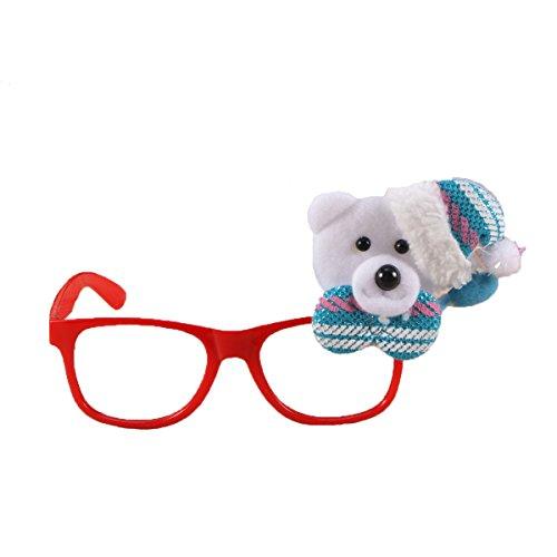 BESTOYARD 2 stücke Weihnachten Bär Brillengestell Sonnenbrille Foto Requisiten Party Favors...