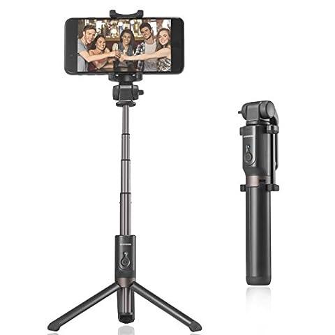 Handy Selfie Stativ, Riversong Bluetooth Selfie Stick mit Stativ, Flexibles iPhone Stativ, mini Dreibeinstativ, Handy Halter, Halterung mit Fernbedienung für iPhone, Samsung und andere