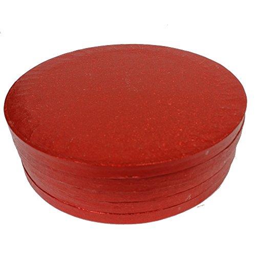 Culpitt Rouge 12 en Rond pour gâteau Planches 12 en 304 mm x 13 mm (Lot de 5)