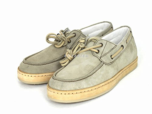 Armani Jeans Schuhe Shoe Herrenschuhe Mokassins V6594 Beige