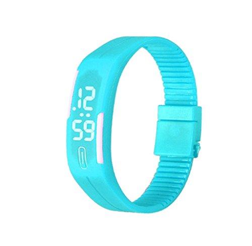 Reloj de las mujeres, FEITONG Para mujer para hombre de goma del reloj LED Fecha Sports Bracelet Digital Wrist