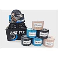 3NS TEX Kinesiology Tape-Baumwolle 5 cm x 5 m 2xBeige, 2xBlue, 2xBlack preisvergleich bei billige-tabletten.eu