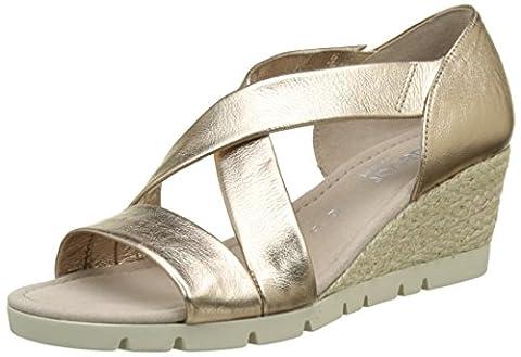 Gabor Shoes Damen Comfort Plateau, Beige (Space (Jute) 82), 39 EU