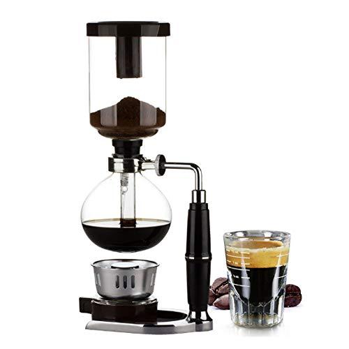 4 Tasses De Table Siphoncoffee Maker Avec Brûleur À Alcool, Cuillère En Plastique De Café En Poudre, Tissu Filtrant Et Agitateur En Bois