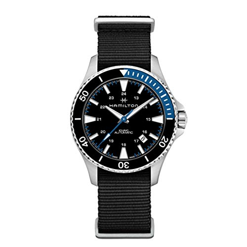 Hamilton Reloj de Hombre automático 40mm Correa de Nylon Color Negro H82315931