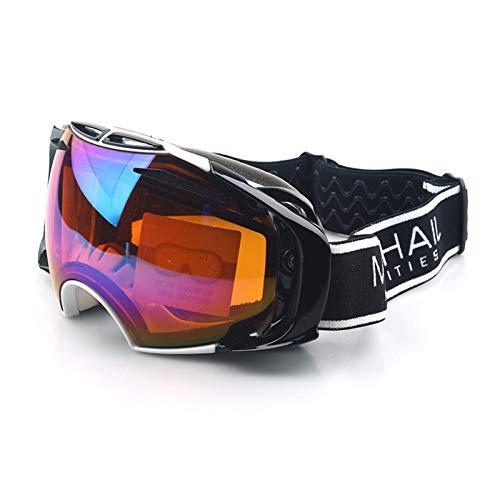 WDDP Skibrille Für Männer Und Frauen, OTG-Snowboardbrille Mit Doppellinse (UV400-Schutz Und Antibeschlag) Für Skating-Skifahrer,C
