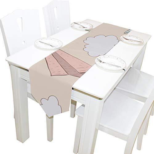 g Junge süße Kommode Schal Tuch Abdeckung Tischläufer Tischdecke Tischset Küche Esszimmer Wohnzimmer Home Hochzeit Bankett Dekor Indoor 13 x 90 Zoll ()