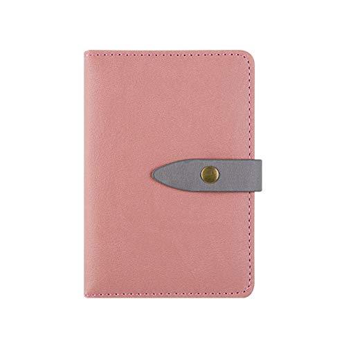 YWHY Notizbuch Pocket Notebook A7 Planer Filofax Niedlichen Mini Reisenden Tagebuch Persönlicher Organizer Gefüttert Seiten Leder Agenda Macaron Sketchbook