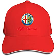 Hittings Alfa Romeo Sandwich Baseball Caps For Unisex Adjustable Red