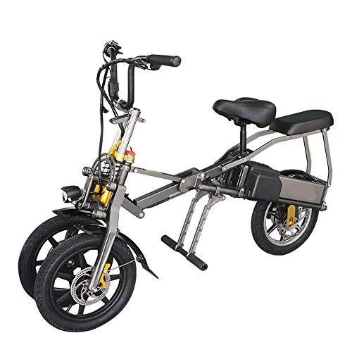 ESWING Dreirad-Elektrofahrzeug Adult Folding 350W Brushless Motor Portable Folding Aluminiumlegierung Elektroauto mit Sitz
