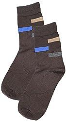 69th Avenue Mens Cotton Socks (Brown)