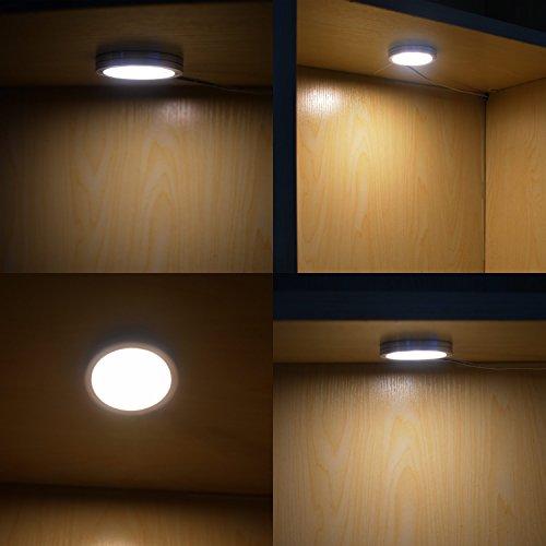 Warmcasa Faretti LED Sottopensile Luce Fredda con 12 LED, Set di 4 10W Luci  da Incasso per Sottopensile, Cucina, Scaffali e Armadio, Luce Bianca Calda