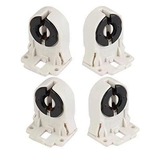 Leuchtstoff-licht-halter (4pcs Wechselstrom 100-250V T8 Leuchtstoff LED Schlauch-Lampen-Halter-Licht-Einfaßung DIY Befestigung)
