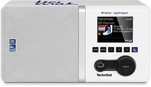 TechniSat Digitradio 300 BR Heimat Edition DAB Radio (DAB+, UKW, BR Heimat Direktwahltaste, Equalizer, Bassreflextube, Wecker, AUX-Eingang, Audio-Ausgang, Kopfhöreranschluss, 5 Watt RMS) weiß