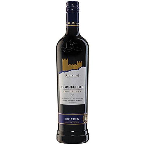 6 Flaschen Rietburg Dornfelder Rotwein, QbA, trocken