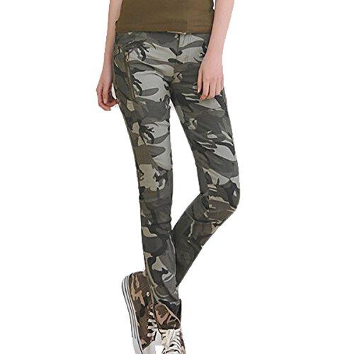 Cool donna ragazza Stretch AUBIG chrysokoll cotone jeans pantaloni Camouflage Camo Printed tubi militare pantaloni Boyfriend pantaloni Ranger privo di tempo Stil (Asia tische TAGLIA S M L XL)