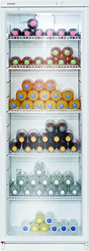 Bomann KSG 239 Glastür-Getränke-Flaschen-Kühlschrank, 320 L, HxBxT 173x60x60 cm, LED-Innenraumbeleuchtung