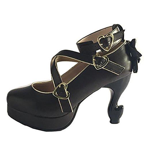Suess Shoes Casual Partiss Schuhen Brown High top Pumps Hochzeit Tanzenball Platform Maskerade Lolita 2 Damen F5q7wSqC