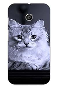 AMAN Feeling Lone 3D Back Cover for Motorola Moto E