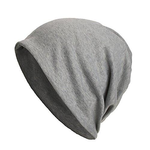Harpily Warme Herren Damen Baumwolle Mütze Strickmützen Slouch Beanie Schädel Cap Winter Sommer Hüte (Grau)