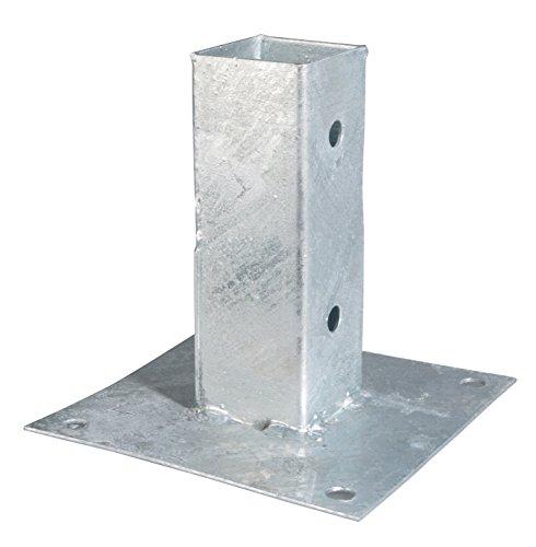 GAH-Alberts - Supporto palo da avvitare, per pali di legno quadrati, zincato a caldo 61 x 61 mm