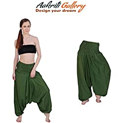 Harem Pants Solid Color Indian Alibaba Dance Trouser Hippie Boho Women Wear Printed Party Jumpsuit Aakriti Gallery