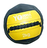#1: YODDHA FITNESS Soft Medicine Ball / Wall Ball (Multi-Color)