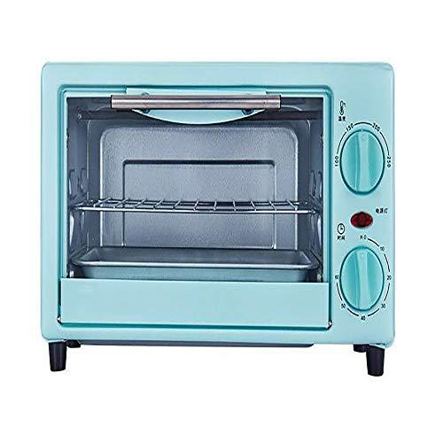 @Mu 10L Mini-Ofen & Grill, elektrischer Multifunktionsherd, visuelles explosionssicheres Glas, einstellbare Temperatursteuerung und Timer, 750W mit Backblech und Gitterrost