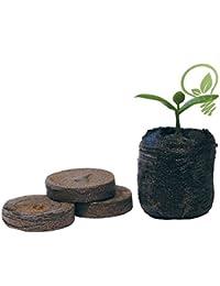 Jiffy 7bolitas de turba semillas creciente jardinería planta 100unidades 24mm
