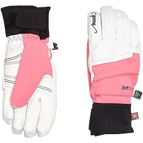 Guantes Reusch Adara, otoño/invierno, mujer, color Blanco - White/Knockout Pink, tamaño 7,5