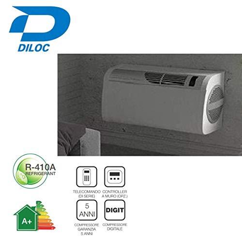 Diloc Klimagerät Monoblock-Verteiler Easy Design 13000 Btu Ohne Außenmotor geräuscharm mit Fernbedienung D.13000SM+