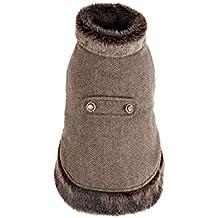 PAWZ Road Cuello de Piel sintética de Ropa de Lana de Perro Mascota Abrigo de Invierno