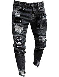 0efd3b79b1c7a Chickwin Pantalones Vaqueros Hombre Rotos